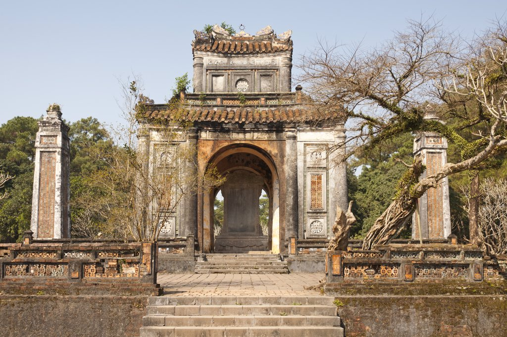 Stock Photo: 4290-9427 Vietnam, Tomb of Emperor Tu Duc, Stele Pavilion incorporating memorial to Tu Duc's reign