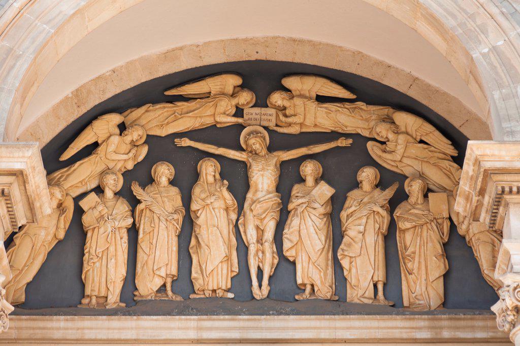 Stock Photo: 4290-9476 Jesus Christ and disciples, Basilica Minori Dei Santi Cosma E Damiano, Alberobello, Bari province, Puglia region, Italy