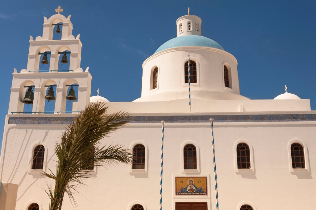 Panagia Platsani Church, Caldera Square, Oia, Santorini, Greece : Stock Photo