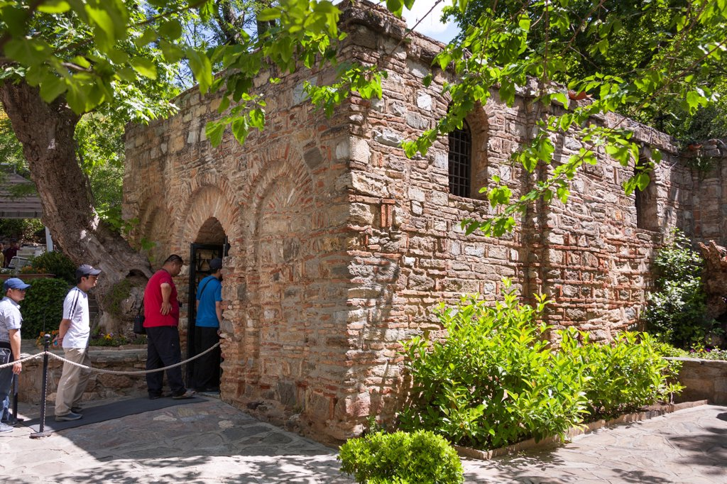 House of the Virgin Mary, Meryemana, near Ephesus and Selcuk, Turkey : Stock Photo