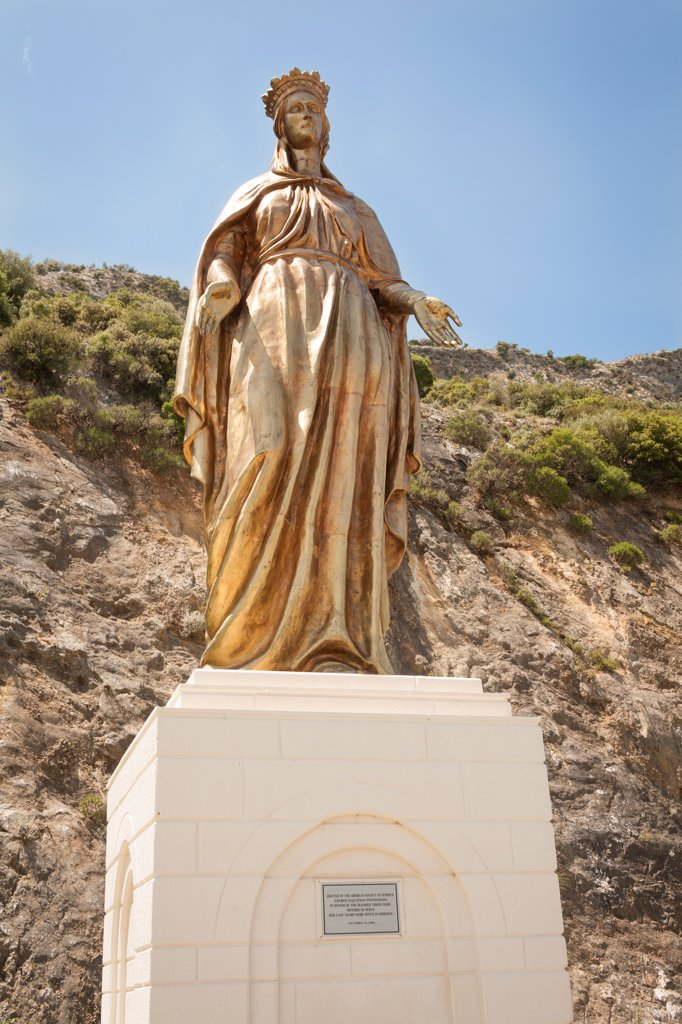 Statue of the Virgin Mary, near the House of the Virgin Mary, Ephesus, Turkey : Stock Photo