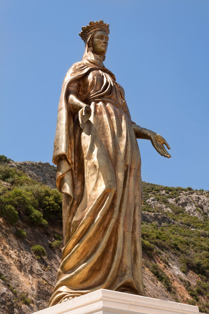 Stock Photo: 4290-9629 Statue of the Virgin Mary, near the House of the Virgin Mary, Ephesus, Turkey