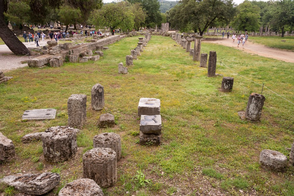 Stock Photo: 4290-9655 The gymnasium, Olympia, Greece