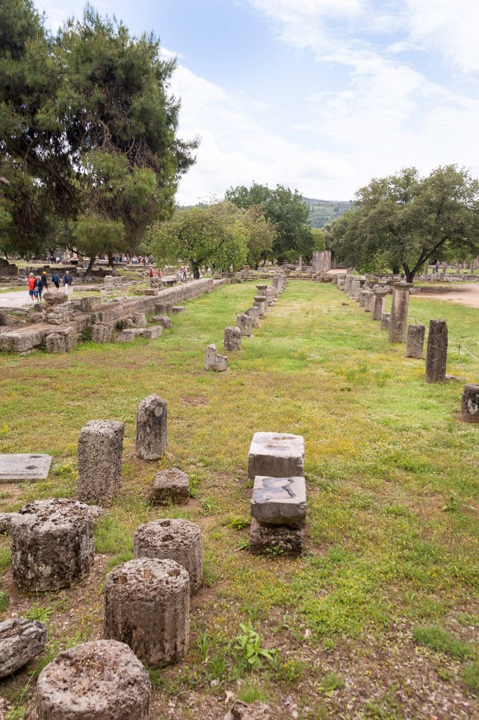 Stock Photo: 4290-9656 The gymnasium, Olympia, Greece