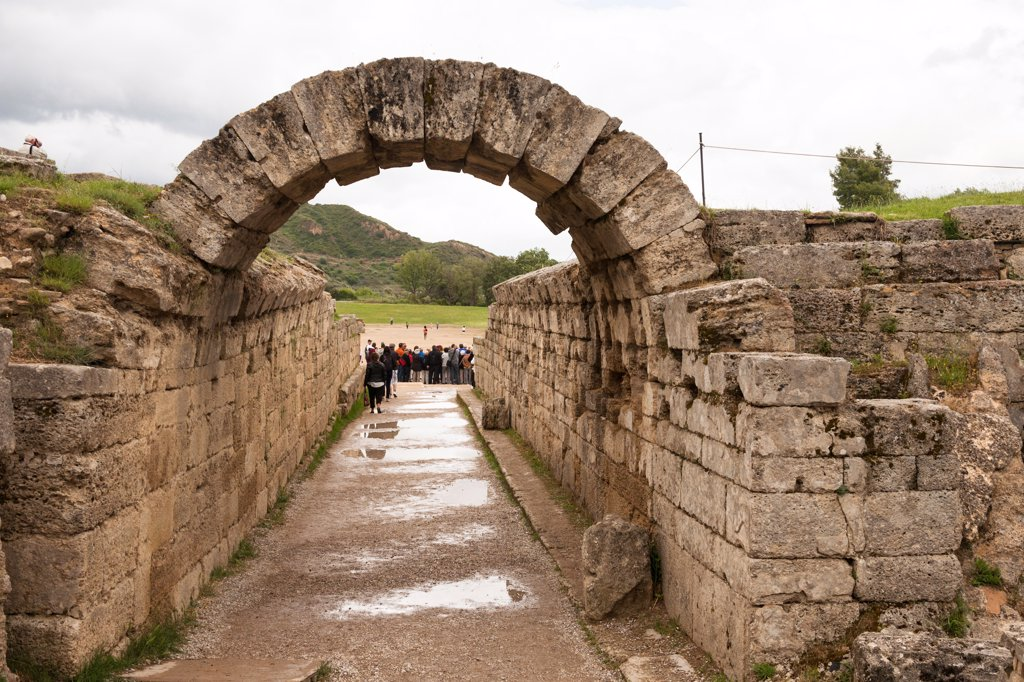 Stock Photo: 4290-9665 Entrance into the original Olympic Stadium, Olympia, Greece