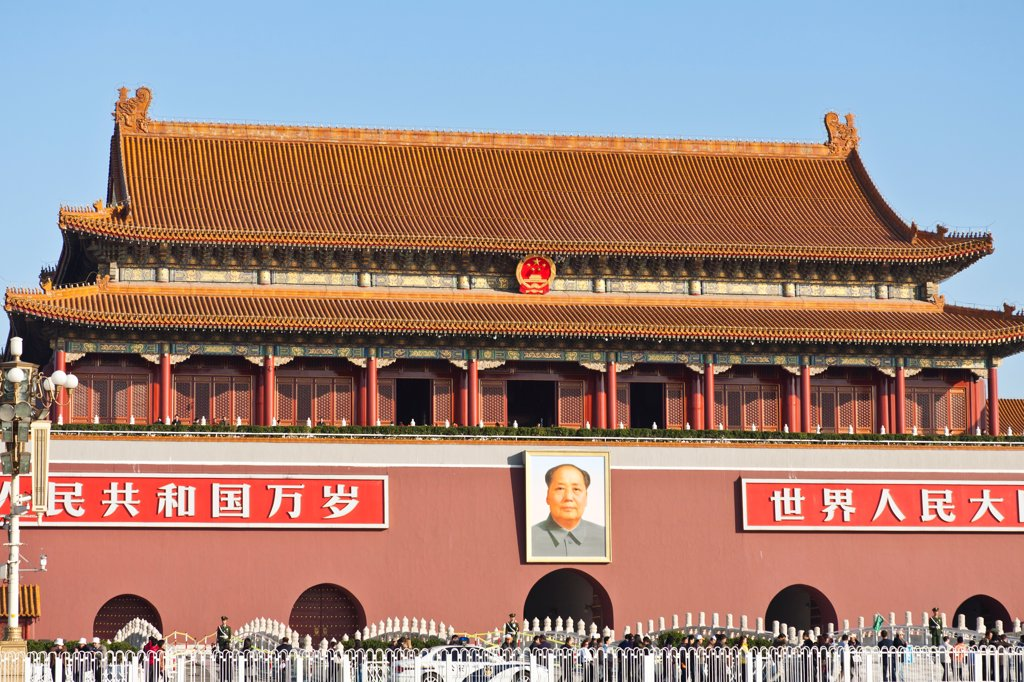 Stock Photo: 4290-9745 The Tiananmen, also known as Gate of Heavenly Peace, Tiananmen Square, Beijing, China