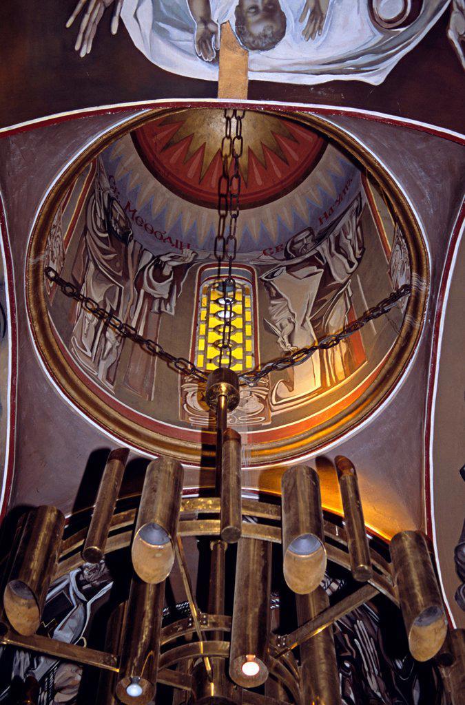 Stock Photo: 4290-9876 Church of the Blessed Saviour, Tsarevets, Veliko Tarnovo, Bulgaria, Internal view