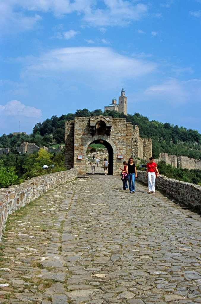 Stock Photo: 4290-9877 Tsarevets Fortress and Church of the Blessed Saviour, Veliko Tarnovo, Bulgaria