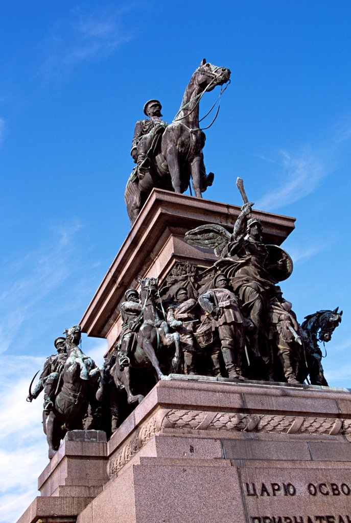 Stock Photo: 4290-9900 Tsar Osvoboditel Monument, Monument of Liberation, Sofia, Bulgaria