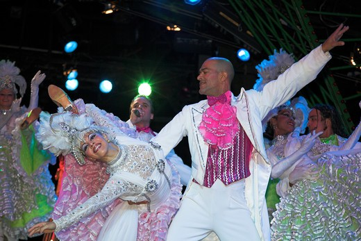 Stock Photo: 4291-13019 Dancers performing at La Tropicana nightclub, Havana, Cuba