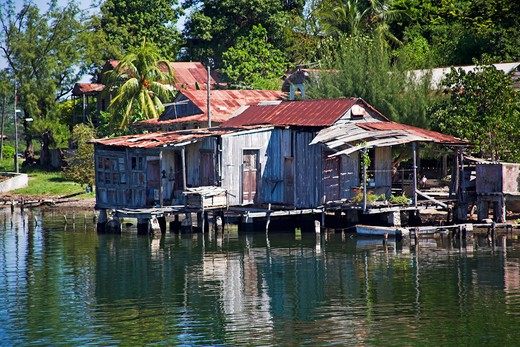 Stock Photo: 4291-13047 House on the shore of Cayo Granma, Santiago Bay, Santiago de Cuba, Cuba