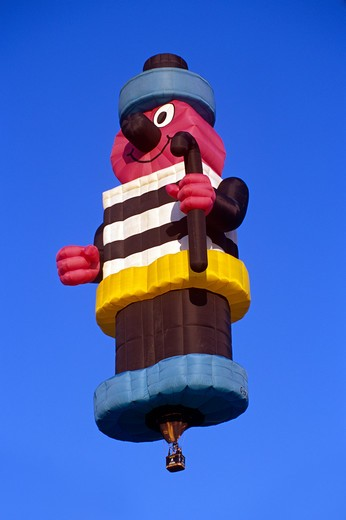 Stock Photo: 4291-13392 Bertie Bassett hot air balloon, Bristol, England