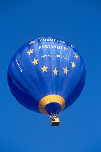 Stock Photo: 4291-13397 European Parliament hot air balloon, Bristol, England