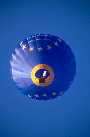 Stock Photo: 4291-13398 European Parliament hot air balloon, Bristol, England