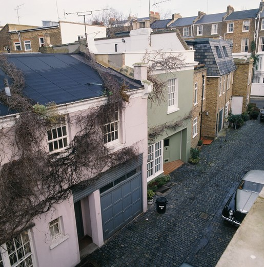 Stock Photo: 4291-18678 Traditional London mews houses