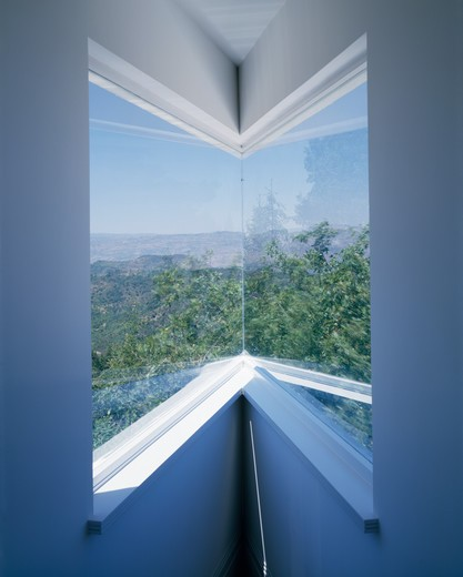Stock Photo: 4291-21703 Close-up of modern corner window