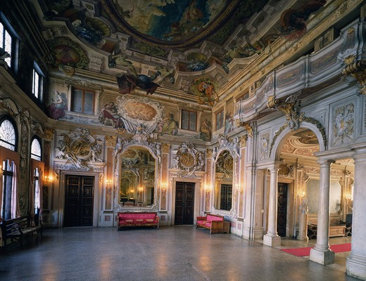 Italy, Veneto, Venice. Ca'Zenobio palace : Stock Photo