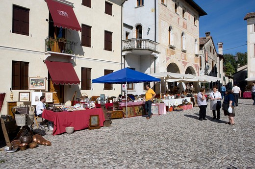 Italy, Veneto, Portobuffole, Flea Market : Stock Photo