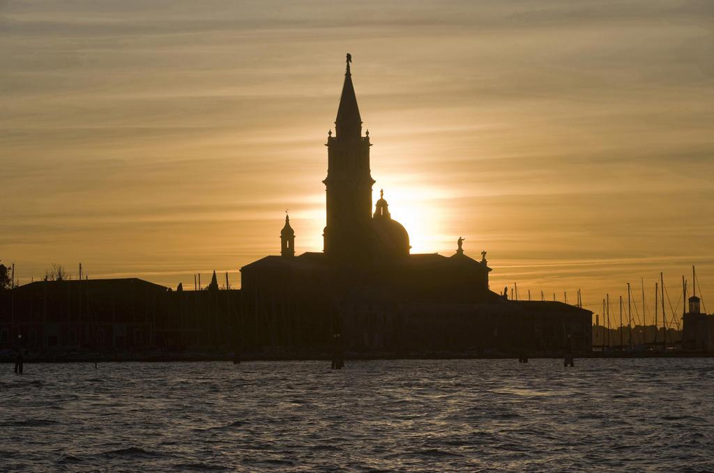 Italy, Venice. Monastery church San Giorgio Maggiore : Stock Photo