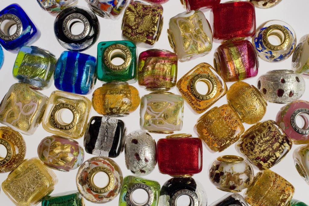 Italy, Veneto, Venice, glass pearls : Stock Photo