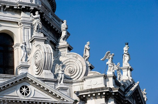 Italy, Veneto, Venice, Santa Maria della Salute church, detail : Stock Photo