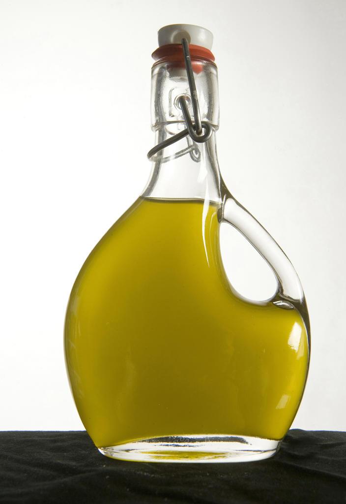 Olive Oil bottle : Stock Photo