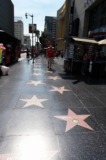 Stock Photo: 4292-103857 Hollywood Walk of Fame, Los Angeles, California, USA