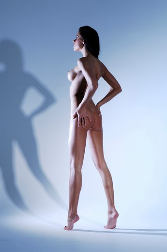 Stock Photo: 4292-104119 Studio shot of a naked woman