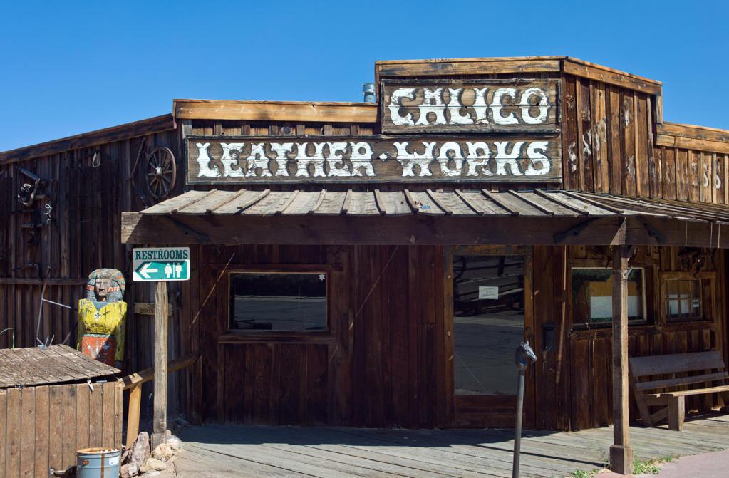 Stock Photo: 4292-10450 USA, California, Calico, old mine town