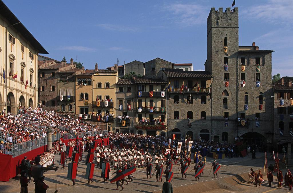 Italy, Tuscany, Arezzo, Giostra del Saracino : Stock Photo