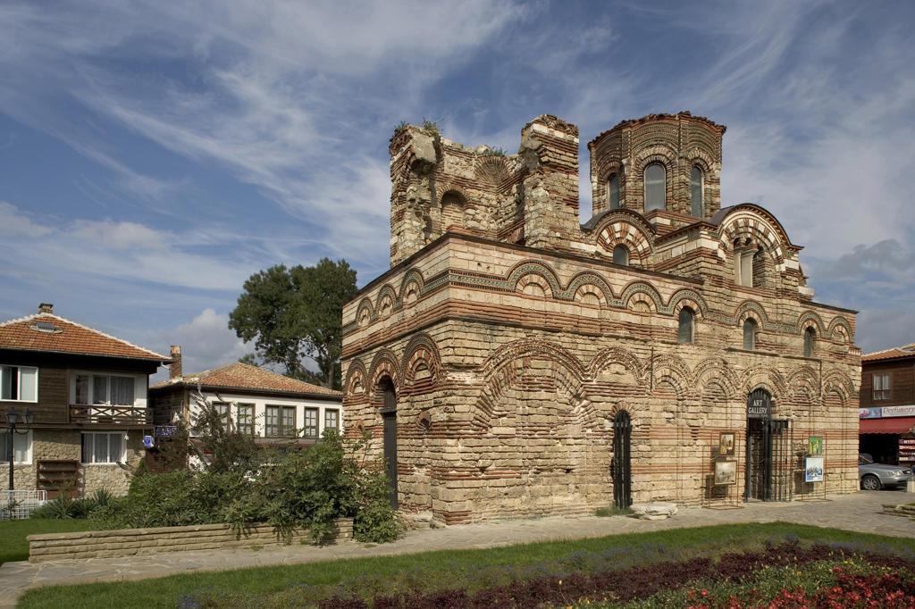 Bulgaria, Nessebar. Church of Christ Pantocrator (14 th century) : Stock Photo