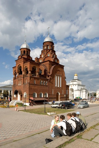 Russia, Vladimir, church of the Holy Trinity : Stock Photo