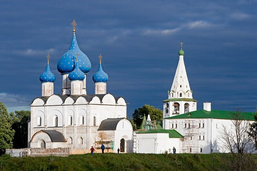Stock Photo: 4292-105071 Russia, Suzdal, the Kremlin, cathedral of the Nativity of the Virgin