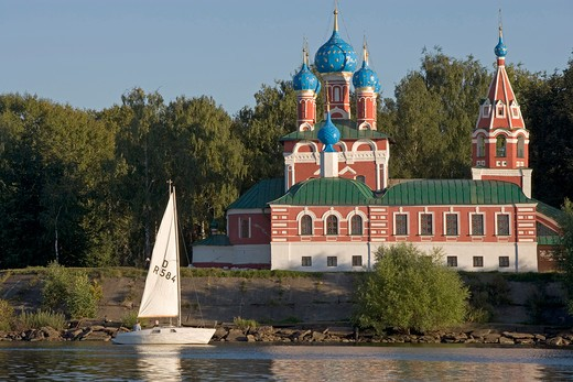 Russia, Uglich, the Kremlin, church of Saint Demetrius on the blood : Stock Photo
