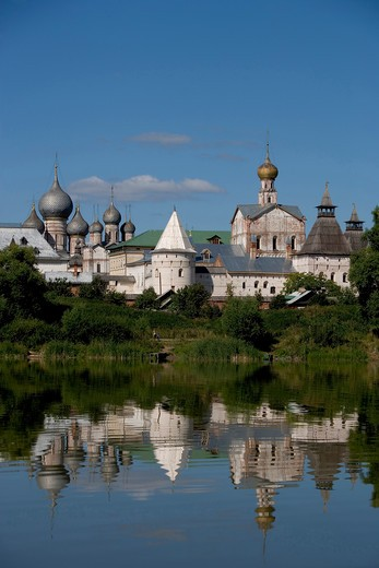 Russia, Rostov, the Kremlin from lake Nero : Stock Photo