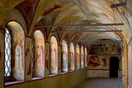 Russia, Rostov, the Kremlin interior fresco's : Stock Photo