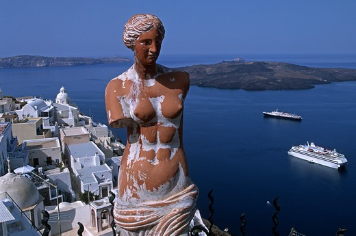 Stock Photo: 4292-105546 Greece, Cyclades, Santorini, Thira. Venus de Milo statue