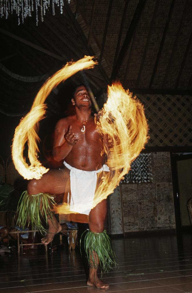 Stock Photo: 4292-105754 Polynesia, French Polynesia, Huaine. Folkloristic show