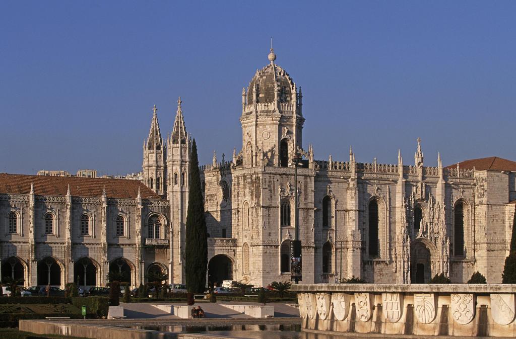 Portugal, Lisbon, Facade of Jeronimos monastery : Stock Photo