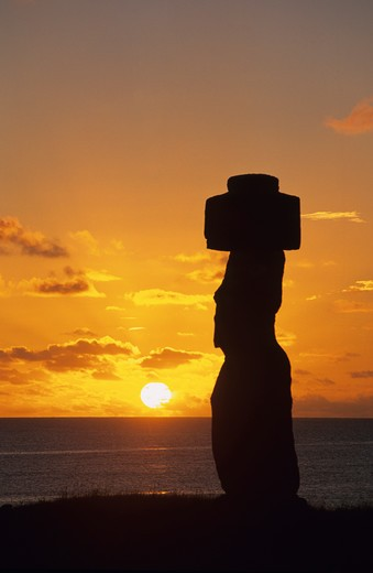 Stock Photo: 4292-105862 South America,Chile, Easter Island, Tahai ceremonial complex, Ahu Ko Te Riku