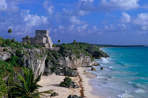Stock Photo: 4292-106226 Mexico, Quintana Roo, Tulum, Mayan ruins