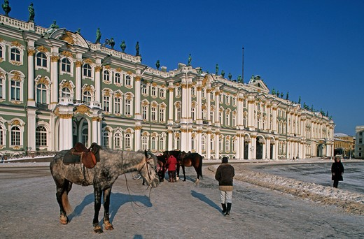 Russia, St. Petersburg, The Hermitage, Winter Palace : Stock Photo