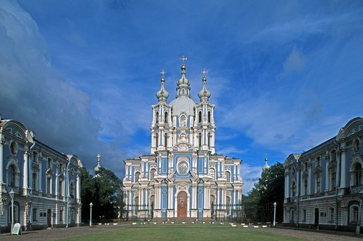 Stock Photo: 4292-106334 Russia - St Petersburg - Smolny Monastery