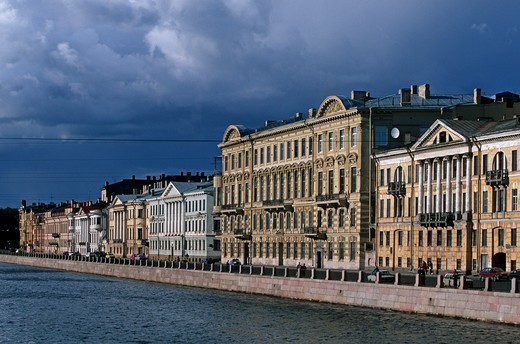 Russia, St. Petersburg,  Fontanka river : Stock Photo
