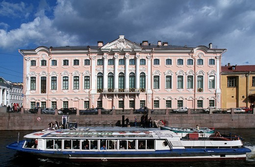 Stock Photo: 4292-106355 Russia St. Petersburg, the Stroganov Palace on Moika river