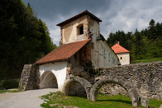 Stock Photo: 4292-106806 Slovenia, Zice Carthusian Monastery, Valley of St John.