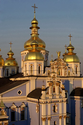 Stock Photo: 4292-106890 Ukraine, Kiev, St. Olga memorial and Michael's Golden-Domed Monastery