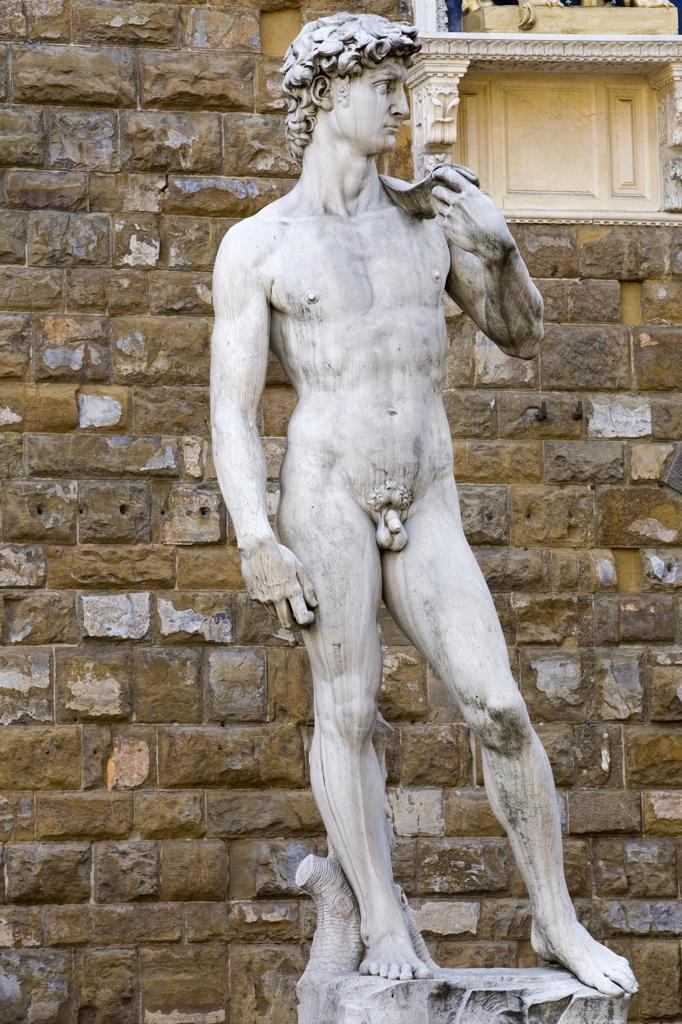 Stock Photo: 4292-107386 Italy,Tuscany, Florence. David Statue, Piazza della Signoria