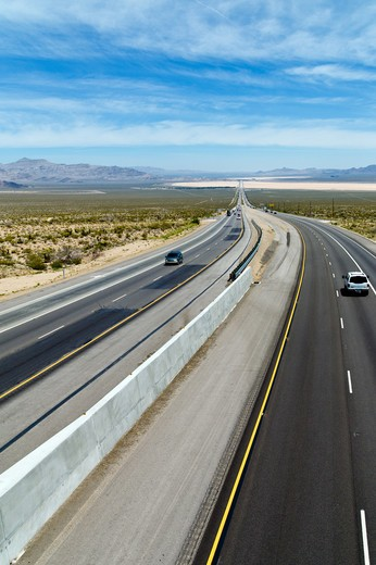 Stock Photo: 4292-10761 USA, Nevada, interstate n°15 to Las Vegas