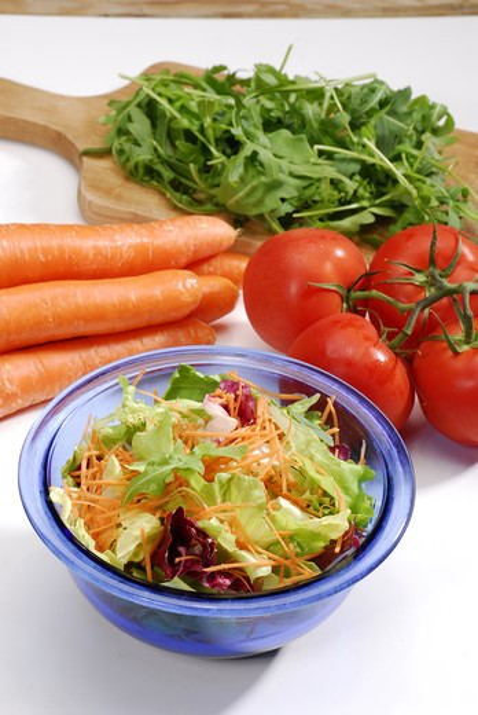 Fresh mixed salad : Stock Photo